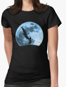 One winged angel in the night Womens Fitted T-Shirt