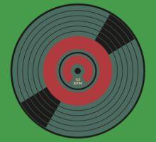 Wonderful Vintage Vinyl Record 45 RPM Kids Tee