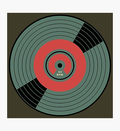 Wonderful Vintage Vinyl Record 45 RPM Photographic Print