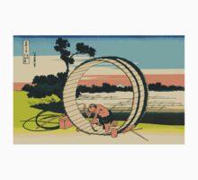 Hokusai, 36 Views of Mount Fuji, no. 40, 4th additional woodcut. Fuji View Field in Owari Province One Piece - Short Sleeve