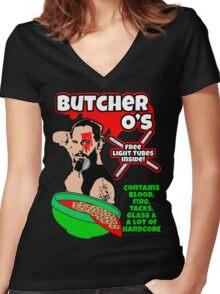 Necro Butcher O's Women's Fitted V-Neck T-Shirt