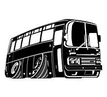 Cartoon bus Photographic Print