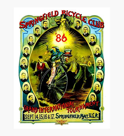 SPRINGFIELD BICYCLE CLUB; Vintage Advertising Poster Photographic Print