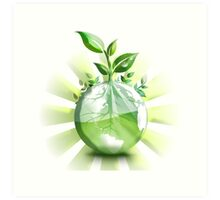 Ecology, Earth science, Environment, Eco, Ecosystems, Green Art Print
