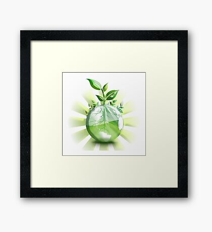 Ecology, Earth science, Environment, Eco, Ecosystems, Green Framed Print