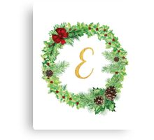 Christmas Monogram E Canvas Print