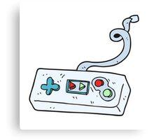cartoon game controller Canvas Print