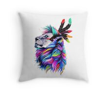Lion Pixel Throw Pillow