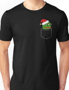 Pocket Sad Santa Pepe Frog Unisex T-Shirt