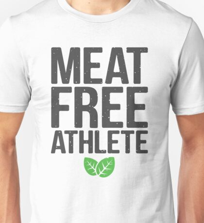 Meat free athlete Unisex T-Shirt