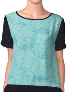 Turquoise spirals  Chiffon Top