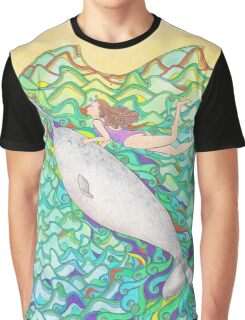 Travelling Unicorn Of The Sea Graphic T-Shirt