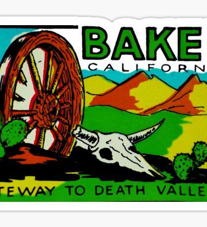 Baker California Death Valley Vintage Travel Decal Sticker