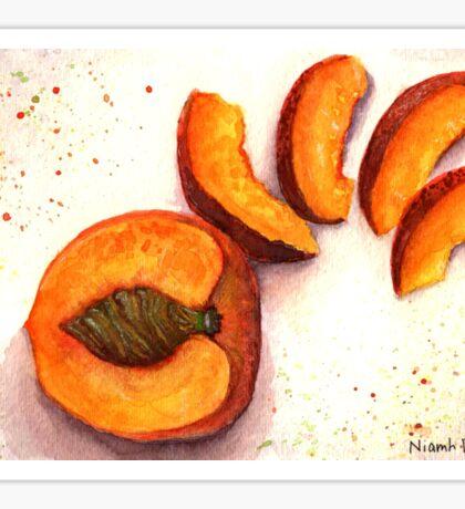 Sliced Peach Sticker