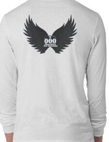 000 Dispatchers Are Awesome Detailed Black Wings - Blue Halo Long Sleeve T-Shirt