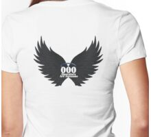000 Dispatchers Are Awesome Detailed Black Wings - Blue Halo Womens Fitted T-Shirt