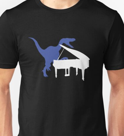 Velociraptor Playing Piano T-Shirt
