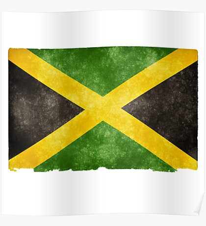 Jamaican Flag Grunge Effect Poster