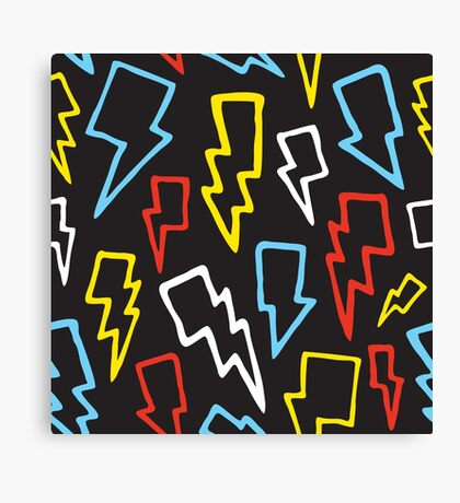 Colorful thunder bolts Canvas Print