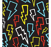 Colorful thunder bolts Photographic Print