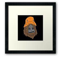 Sassy the sasquatch bucket hat Framed Print