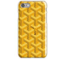 Goyard yellow iPhone Case/Skin