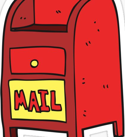 cartoon mail box Sticker