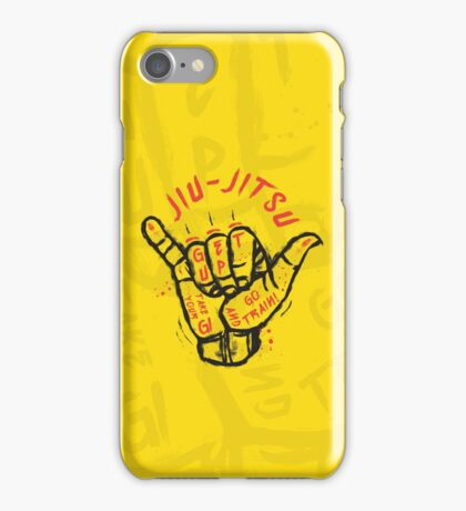 Jiu-jitsu. Go train! iPhone Case/Skin