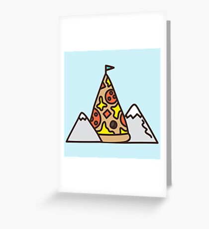 Pizza mountain Greeting Card