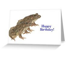 Female Frogs Greeting Card