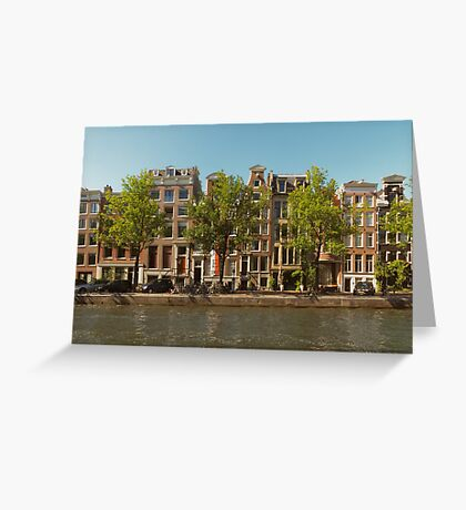 Canal and Canal Houses Greeting Card
