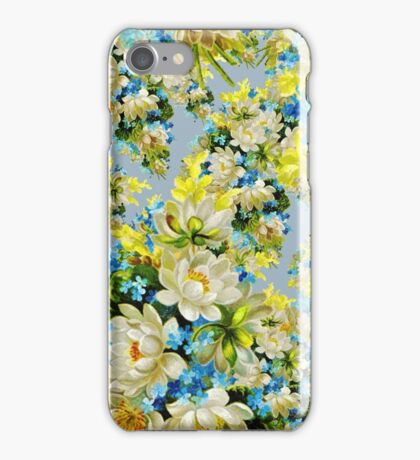 Watercolor Colorful Flower Floral Pattern iPhone Case/Skin