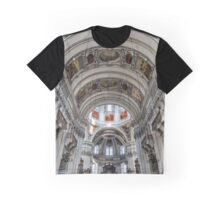 Beautiful baroque interior of Salzburg cathedral, Austria Graphic T-Shirt