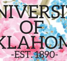 University of Oklahoma Watercolor Roses Sticker