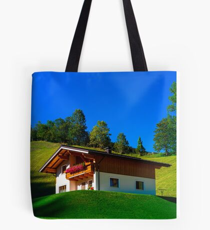 Guesthouse in calm place, mountains and nature, Austria, tourism concept Tote Bag