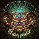 Golden Teacher Mushroom God by Andrei Verner