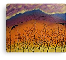 Murder in the sky Canvas Print