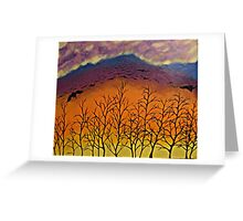 Murder in the sky Greeting Card