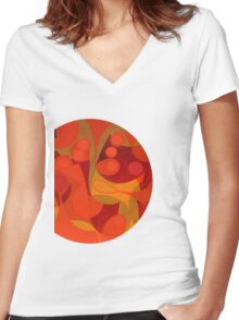 de este lado de la ventana Women's Fitted V-Neck T-Shirt