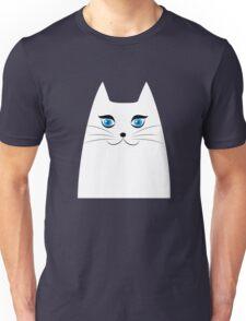 Cute white kitty Unisex T-Shirt