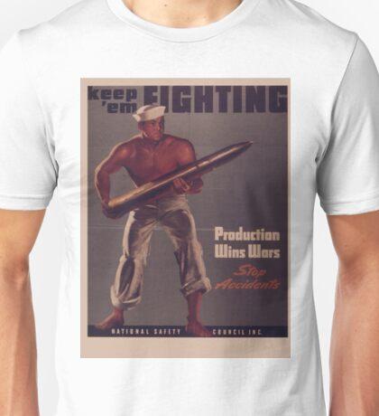 Vintage poster - Keep 'Em Fighting Unisex T-Shirt