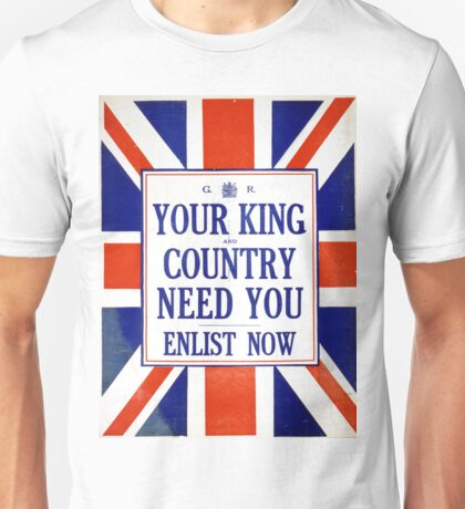 Vintage poster - Your King and Country Need You Unisex T-Shirt