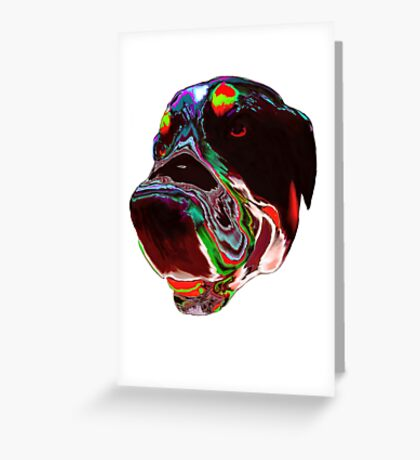 Psychedelic Dog Greeting Card