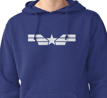Cap Logo (White) Pullover Hoodie