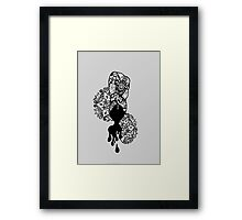 Hair Wrap Bust, Black & White Framed Print