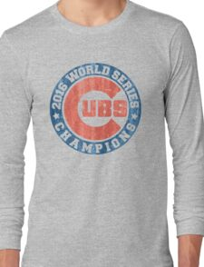 CUBS 2016 WORLD SERIES CHAMPIONS VINTAGE DISTRESSED Long Sleeve T-Shirt