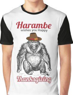 Harambe - Happy Thanksgiving Graphic T-Shirt