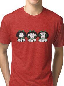 Mafalda three wise monkeys Tri-blend T-Shirt