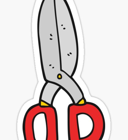 cartoon scissors Sticker