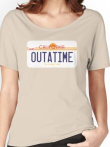 Outatime License Plate Women's Relaxed Fit T-Shirt